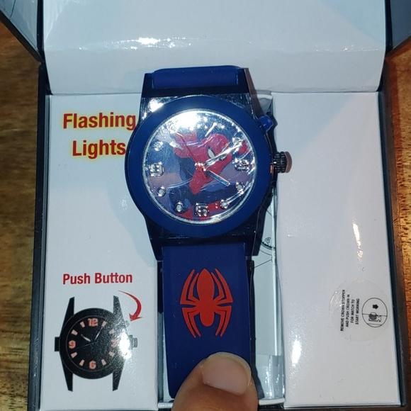 NIB Light Up Spiderman Watch